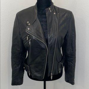 Ebene by Patrick Assuline Black Leather Jacket